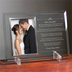 I'm Glad There's You Beveled Glass Picture Frame