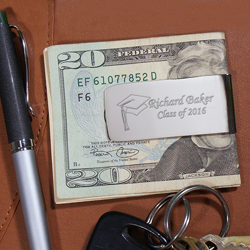 Engraved Class Of Graduation Silver Money Clip | Graduation Gifts For Him