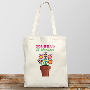 Personalized Lil' Bloomers Canvas Tote Bag | Personalized Grandma Gifts