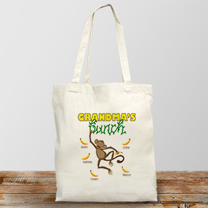 Personalized Monkey Bunch Tote Bag 855812