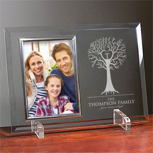Engraved Family Tree Beveled Glass Frame 8573798X