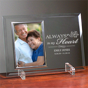 Memorial Beveled Glass Frame | Personalized Picture Frames