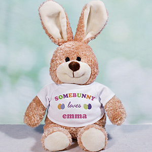 Personalized Somebunny Loves Me Easter Bunny