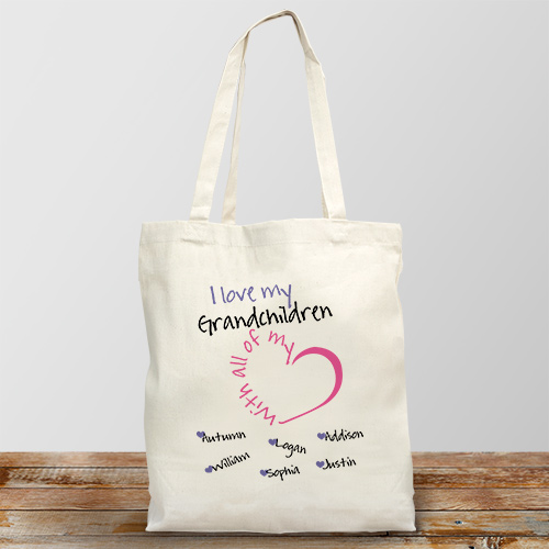 Personalized With All My Heart Tote Bag 862232X