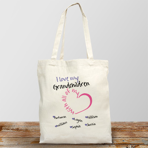 Personalized With All My Heart Tote Bag