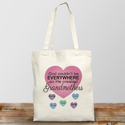 Personalized God Couldn't Be Everywhere Canvas Tote Bag 862242X