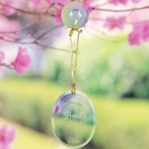 Engraved My First Communion Glass Suncatcher 865354