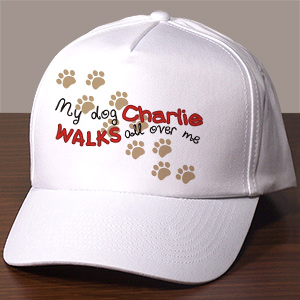Personalized Walks All Over Me Hat 866166