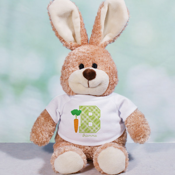 Personalized Easter Initial Bunny | Personalized Easter Bunny