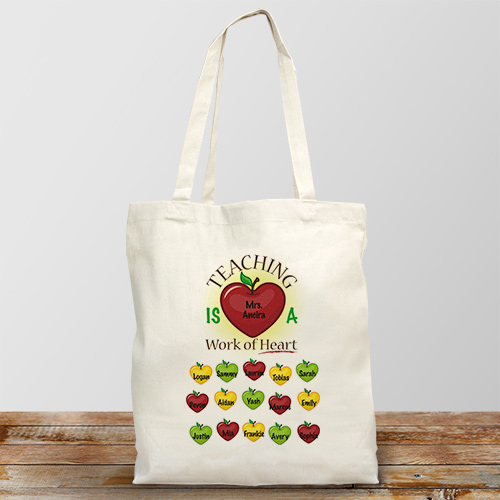 Personalized Teacher Tote Bag | Personalized Teacher Gifts