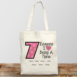 Personalized Reasons I Love Tote Bag 870972X