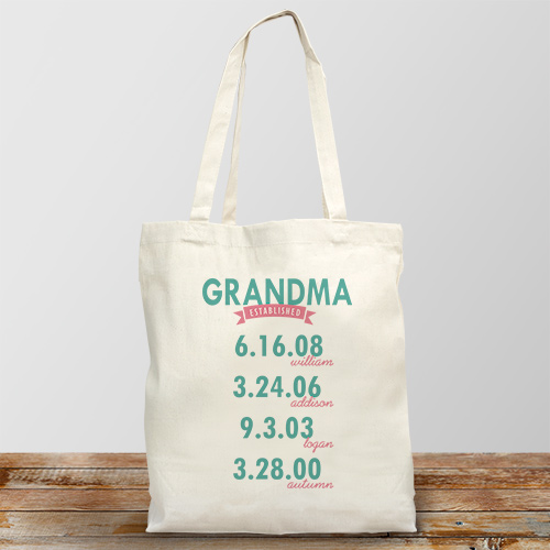 Personalized Mom Established Tote Bag | Personalized Tote Bags