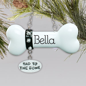 Dog Bone Personalized Christmas Ornament | Personalized Pet Ornaments