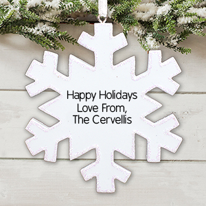 Snowflake Christmas Ornament | Personalized Ornament