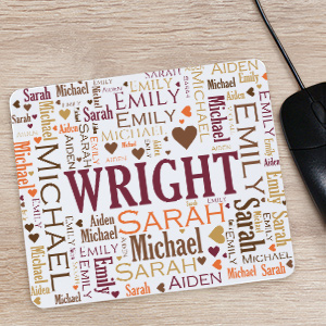 Picture Perfect Photo Mouse Pad | personalized Word Art