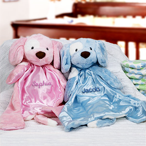Personalized Baby Huggybuddy™ Blankie | Unique Baby Shower Gifts