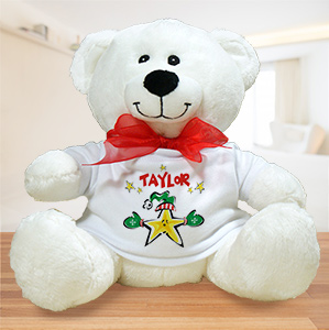 Christmas Star Personalized Plush Teddy Bear