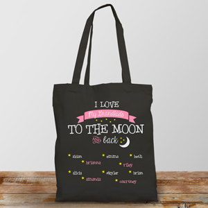 Personalized To the Moon and Back Canvas Tote | Mother's Day Gifts