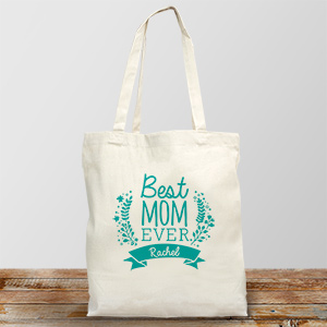 Personalized Best Mom Ever Tote