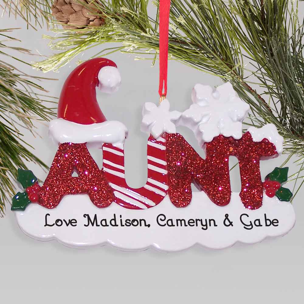 Aunt Personalized Christmas Ornament | Personalized Family Ornaments