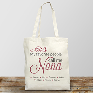 Personalized My Favorite People Call Me Tote Bag | Personalized Totes