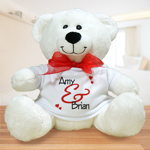 Personalized Couples Teddy Bear | Customized Valentine's Bear