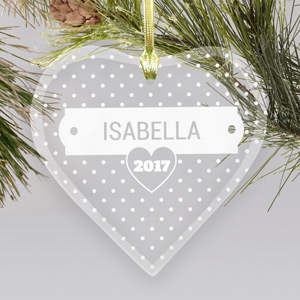 Polka dots Heart Ornament | Personalized Ornaments