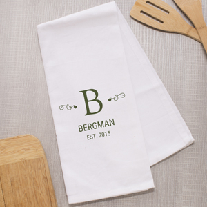 Personalized Family Monogram Dish Towel 898729
