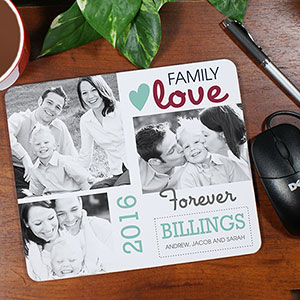 Family Photo Collage Personalized Mouse Pad