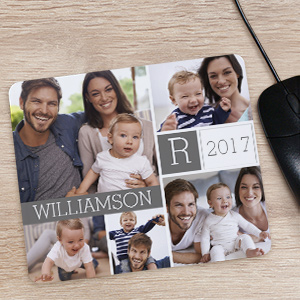 Family Photo Collage Mousepad | Personal Gifts For Mom