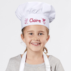 Personalized Pink Hearts Youth Chef Hat 899958