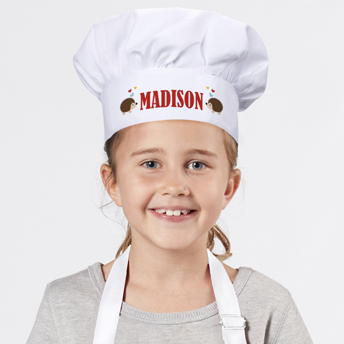 Personalized Hedgehogs Love Youth Chef Hat 899998