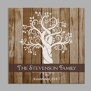 Personalized Family Tree Square Canvas | Housewarming Gift Ideas