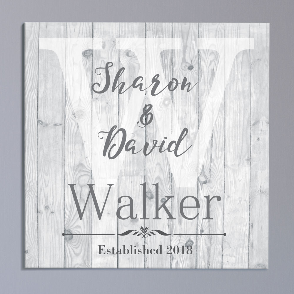 Personalized Couple's Wood Canvas | Personalized Wedding Gift