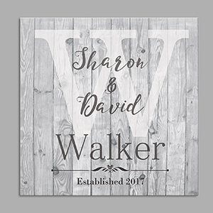Personalized Couple's Wood Canvas 91093754X