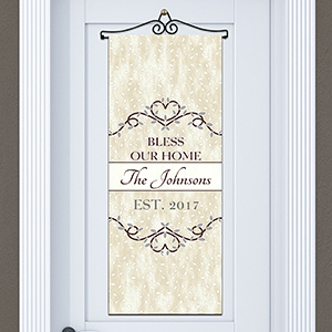 Personalized Bless Our Home Door Banner | Housewarming Gift Ideas
