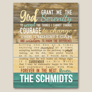 Personalized Serenity Prayer Canvas | Personalized Religious Wall Art