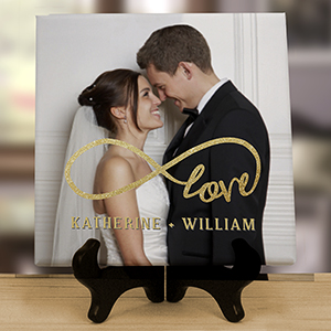 Personalized Inifinty Love Photo Tabletop Canvas | Valentine's Personalized Photo Gifts