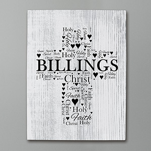 Personalized Religious Word-Art Canvas