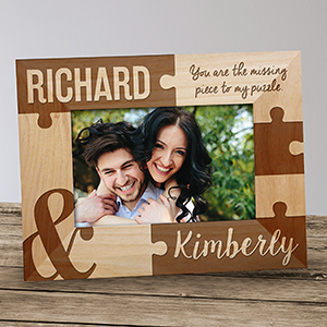 Personalized You Are The Missing Piece Wood Frame 911021X