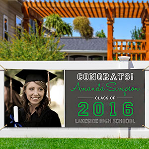 Personalized School Spirit Graduation Banner