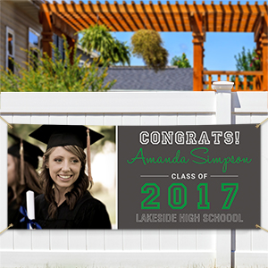 Personalized School Spirit Graduation Banner | Personalized Graduation Gifts