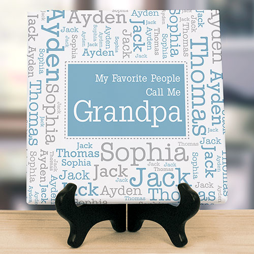Personalized Favorite People Word-Art Tabletop Canvas | Personalized Father's Day Gifts