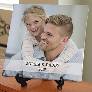 Personalized Dad Tabletop Photo Canvas