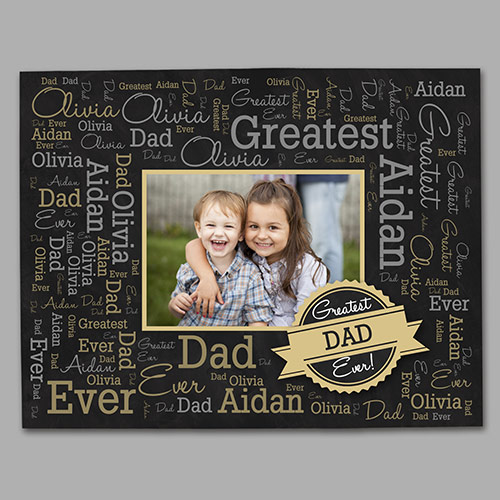Greatest Dad Photo Word-Art Canvas | Father's Day Photo Gifts