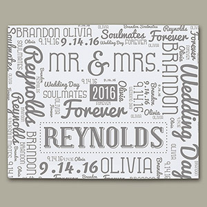 Wedding Word-Art Canvas WWC