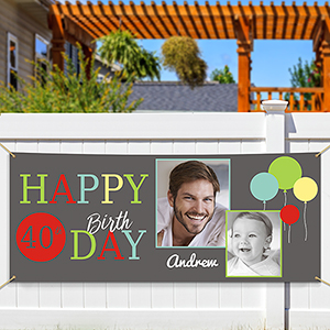 Birthday Photo Collage Banner