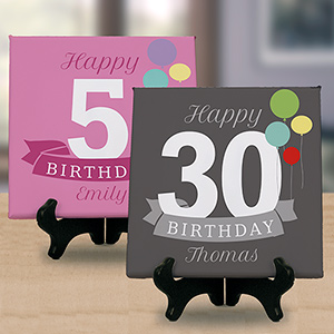 Personalized Happy Birthday Tabletop Canvas