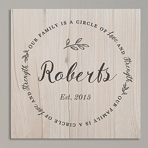 Personalized Family Circle Wall Canvas | Housewarming Gift Ideas