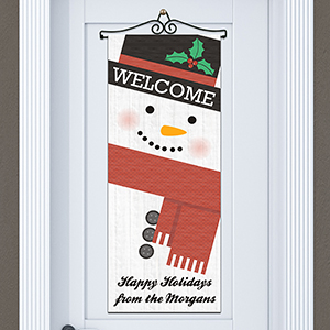 Personalized Snowman Door Banner